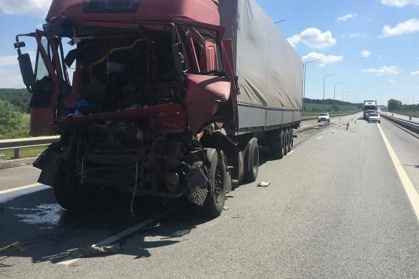 От кабины грузовика почти ничего не осталось