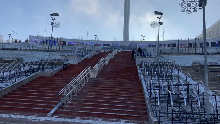 На площади Славы установят инсталляцию в виде сказочного ледяного дворца