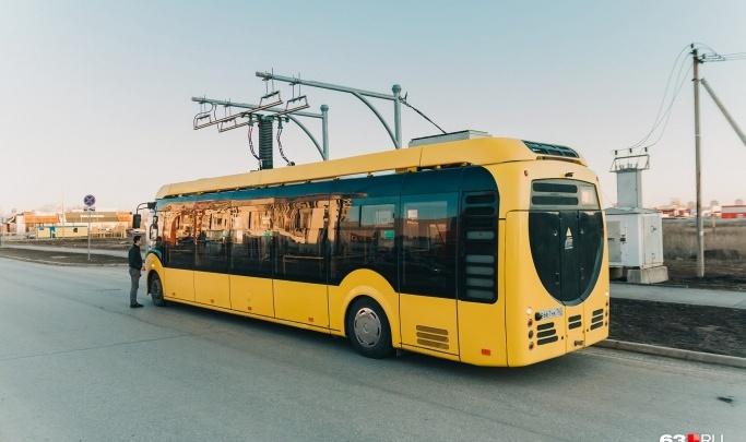 В Самаре вновь пустили электробус до Южного города