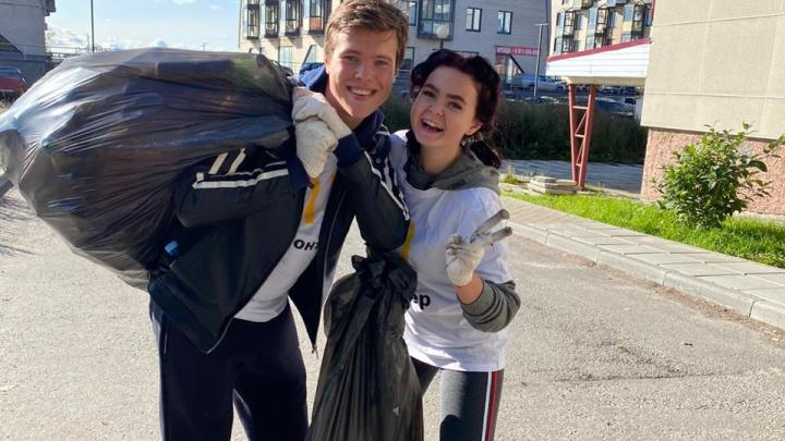 Бегали и собирали мусор: «Макдоналдс» провел в Архангельске необычную экологическую акцию