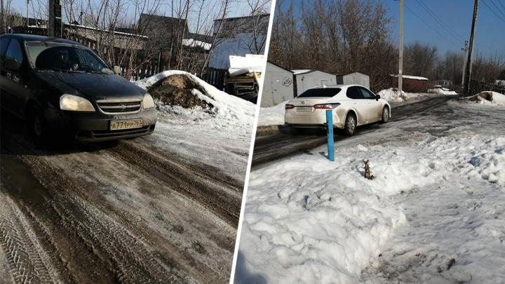 В Самаре из-за перекрытия Заводского шоссе водители устроили ралли по частному сектору