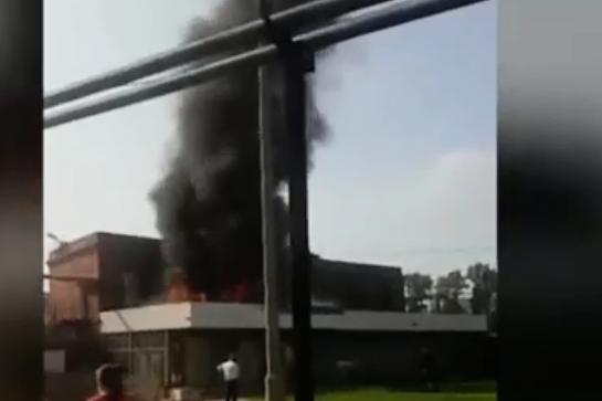 Красноярцев впечатлил столб дыма в районе «Красфармы»