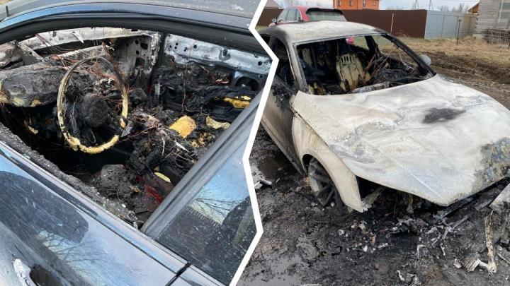 Ночью сгорела иномарка владельца компании, которая дезинфицирует все тюменские дома