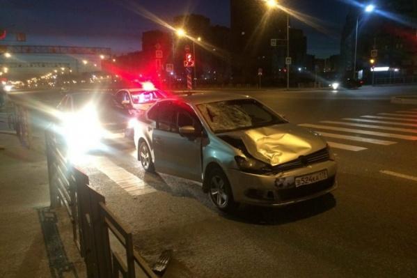 Авария произошла в 3 часа ночи
