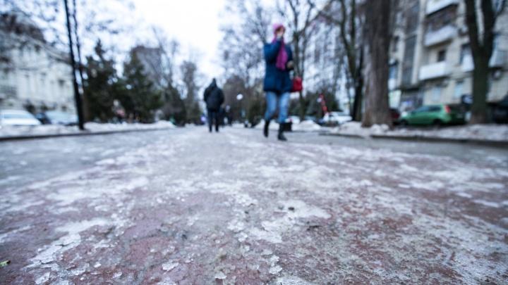 В Ростове будут перекрывать улицы из-за ливня и гололеда