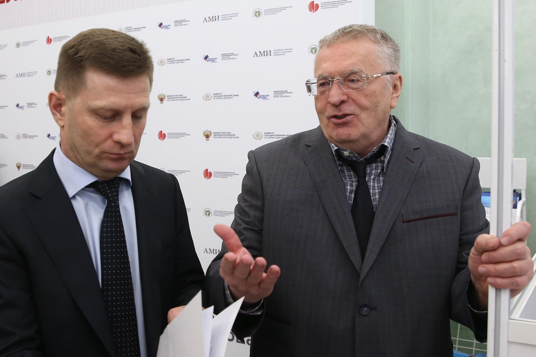 Сергей Фургал и Владимир Жириновский
