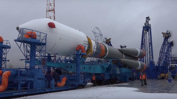 Видео запуска ракеты-носителя «Союз-2.1Б» на космодроме Плесецк