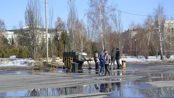 Омские синоптики пообещали перепады температуры в начале рабочей недели