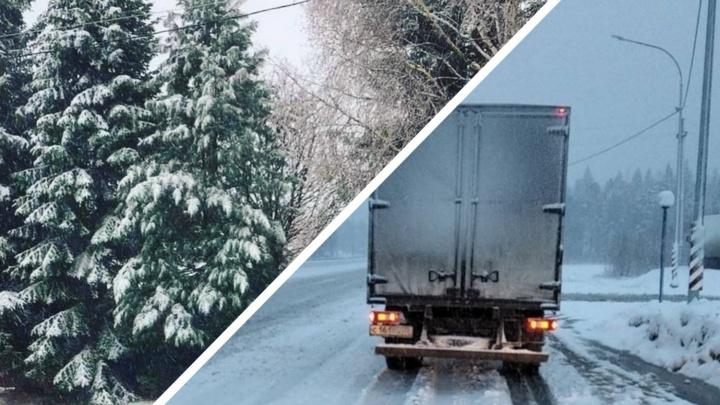 В Тюменской области выпал снег