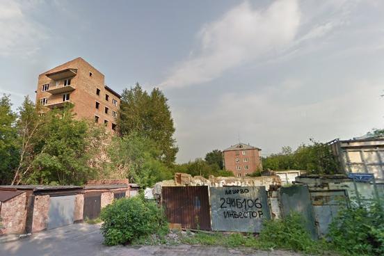 В Красноярске застройщик не достроил жилой дом на1-й Хабаровской, 7