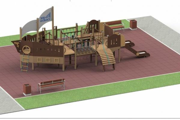 Такие детские площадки появятся на каждой из 34 территорий Кузбасса