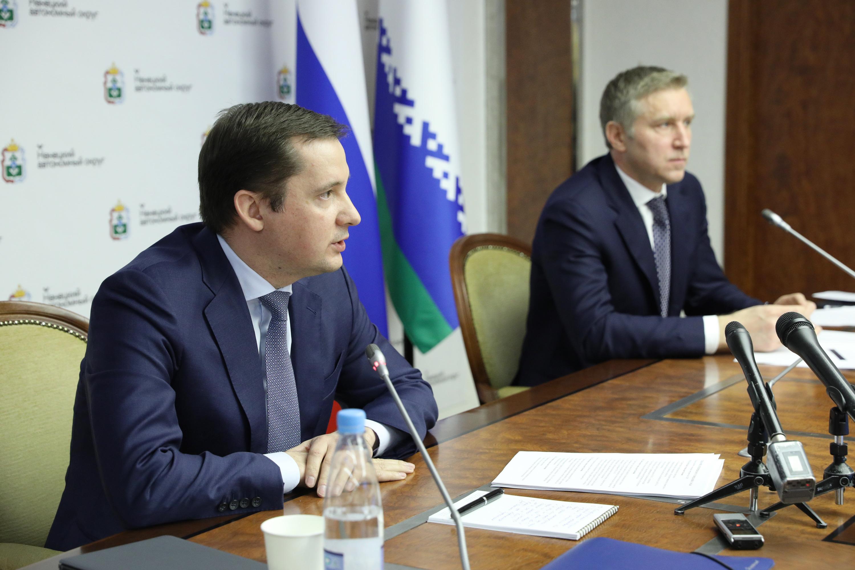Врио губернаторов Александр Цыбульский и Юрий Бездудный