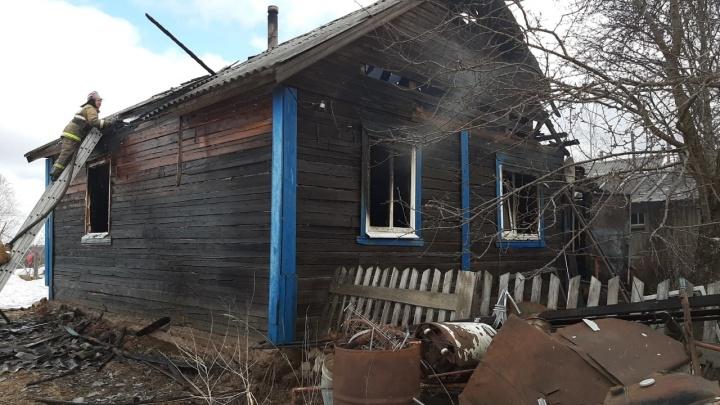В Котласском районе при пожаре погиб 96-летний мужчина