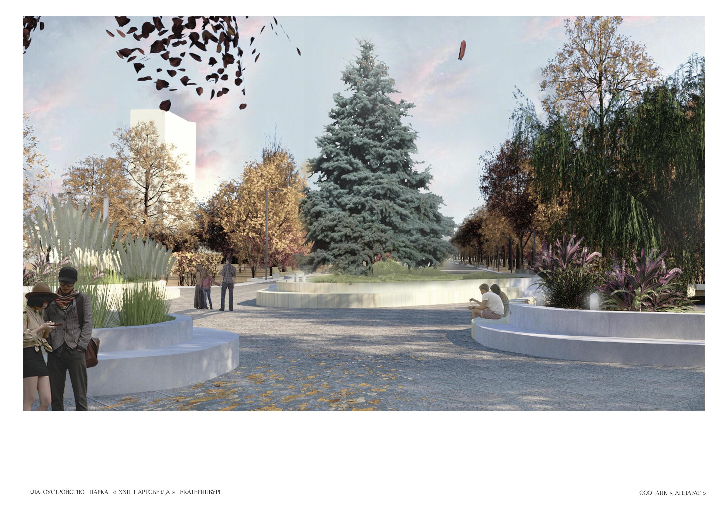 Большая ель на месте круглой площадки со столбом станет главным новогодним деревом района