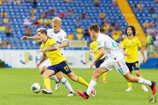 Ростовчане открыли счет на 17-й минуте матча, но удержать преимущество не смогли.