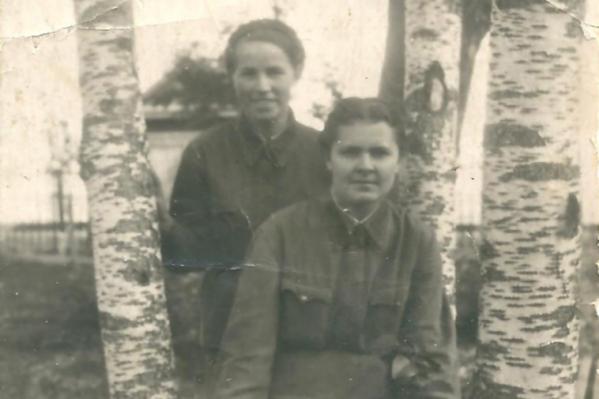 Анастасия Алексеевна во время службы в Кеми в 1943 году<br>