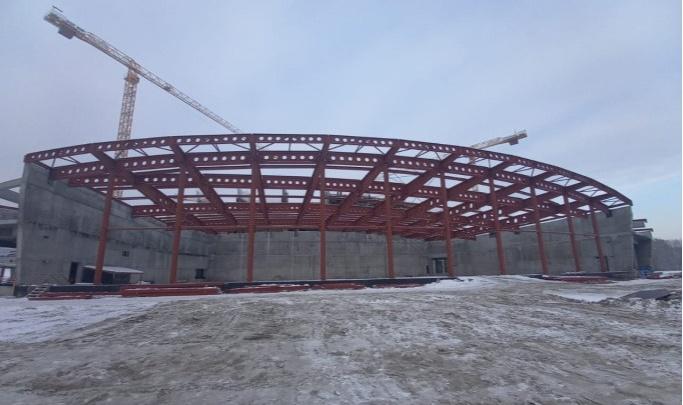 Новую ледовую арену в Новосибирске построят раньше срока — когда это произойдет