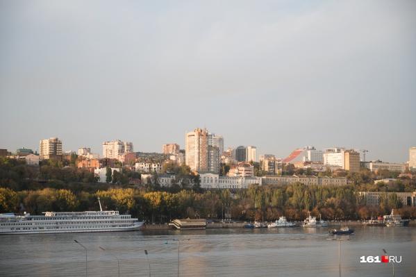 Так Ростов выглядит с левого берега