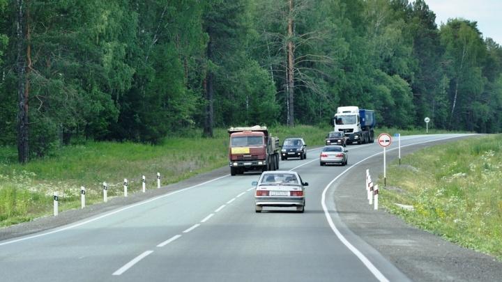 Трассу Пермь — Екатеринбург перекроют из-за установки надземного перехода
