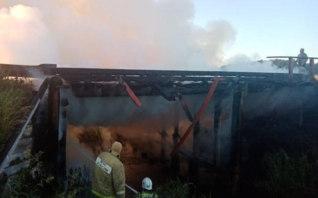 В Зауралье из-за сожженного моста жители двух населенных пунктов оказались отрезанными от райцентра