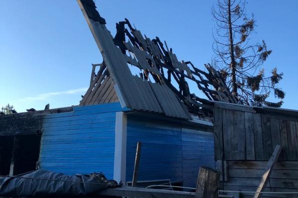 Дом загорелся утром 20 августа