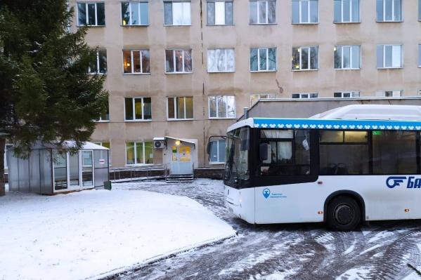 В автобусе люди смогут согреться