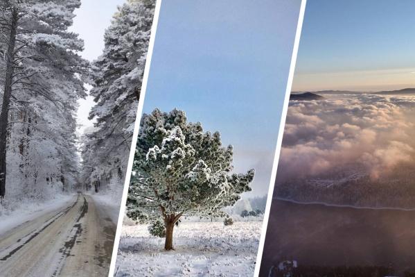 Несколько дней в Красноярске стоит снежная безветренная погода