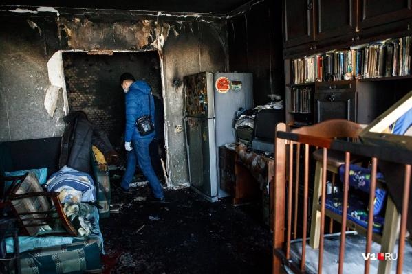 Причину возгорания устанавливают эксперты