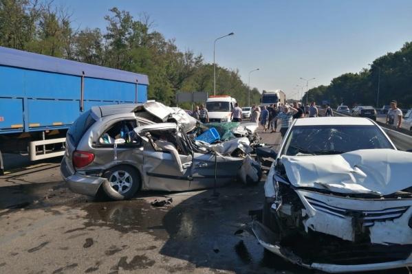 В аварии пострадали три ребенка