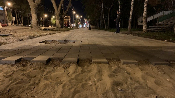 В Самаре на улице Мичурина появятся новые парковки и карманы для общественного транспорта