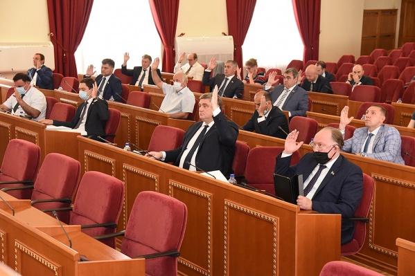 В первом чтении депутаты обсуждали бюджет в ноябре