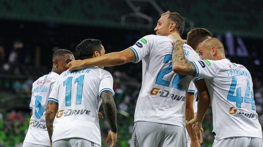 «Зенит» победил «Краснодар» и досрочно стал чемпионом России по футболу