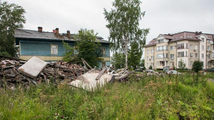 В центре Архангельска на месте развалин деревянного дома хотят построить новый корпус САФУ
