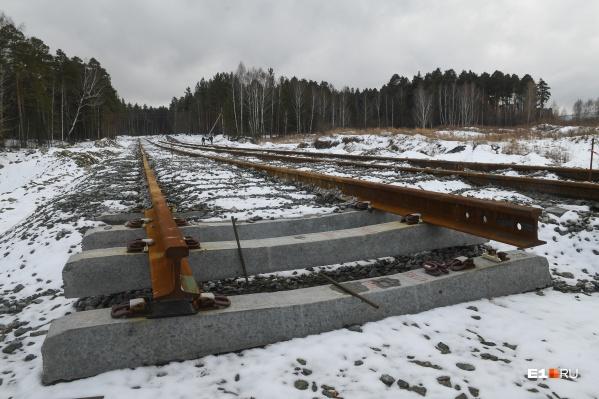 Первые 250 метров будущей ветки строители уложили минувшей зимой