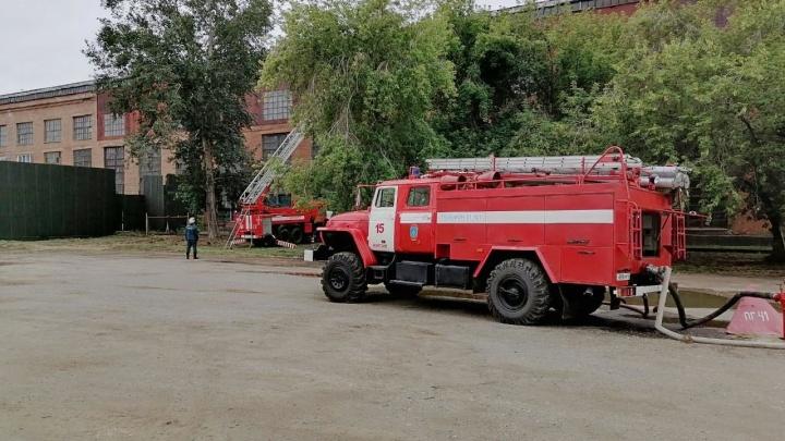 В Кургане на КМЗ произошёл пожар