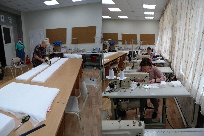Изготовлением масок занимаются сотрудники техникума, которые обучают швей и портных