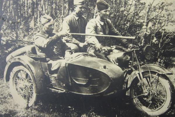 Николай за рулем мотоцикла