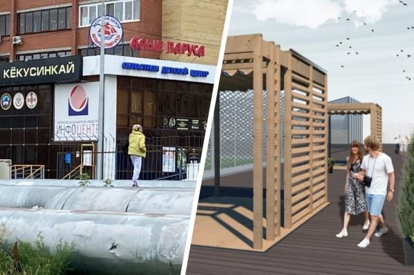 В Тюмени предложили устроить прогулочную зону над страшными наземными трубопроводами
