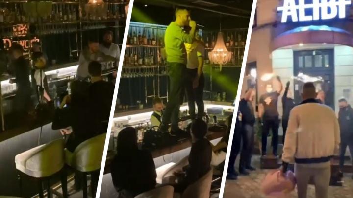 Танцы на барной стойке и фейерверки: показываем, как в полночь открылись рестораны Екатеринбурга