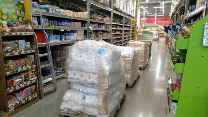 В Красноярске сделали запас продуктов на 2 месяца вперед