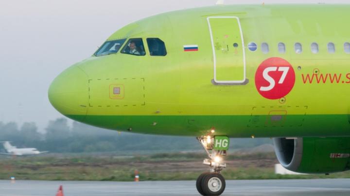 Силовики ищут взрывчатку на борту самолета S7 — он прилетел в Екатеринбург из Новосибирска