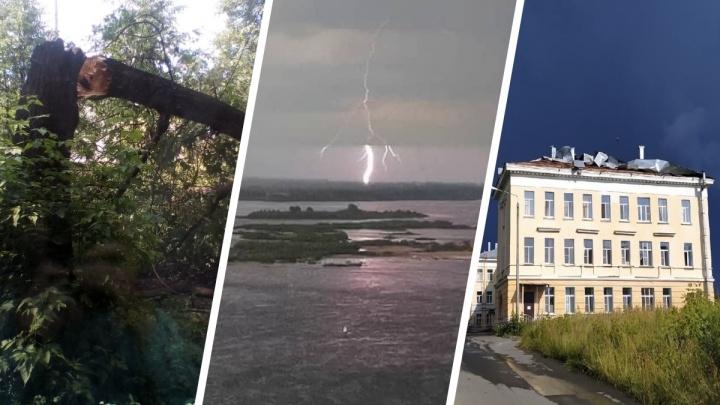 В Нижегородской области шквал сорвал с домов крыши