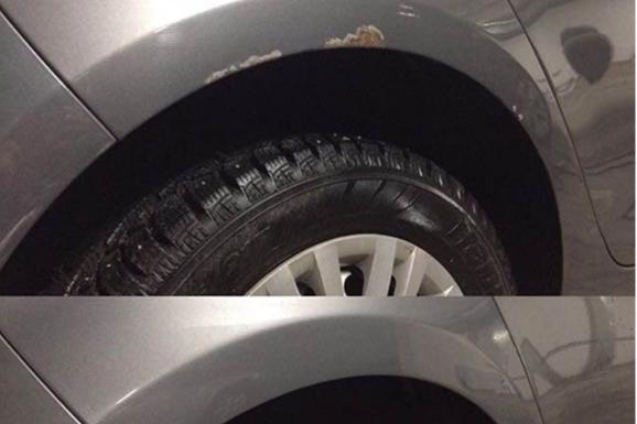 Удаление очагов коррозии и локальное восстановление ЛКП на VW Golf
