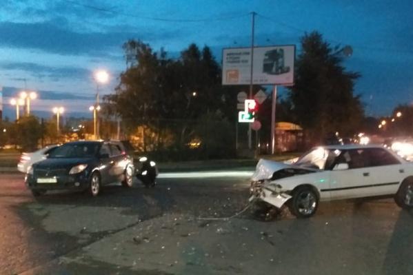 Авария произошла в 21:50
