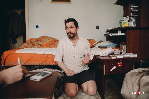 Инвалид Анатолий Минин живет в однокомнатной квартире