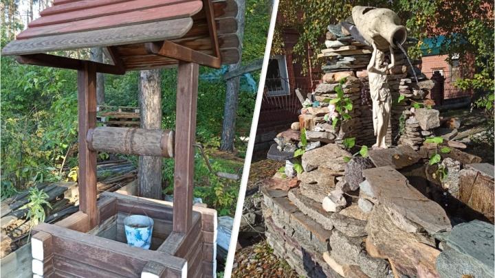Житель Екатеринбурга своими руками построил на Уктусе детскую площадку с фонтаном