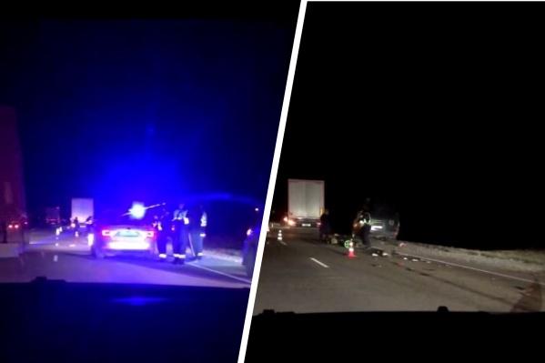 Авария произошла вечером на Ордынской трассе