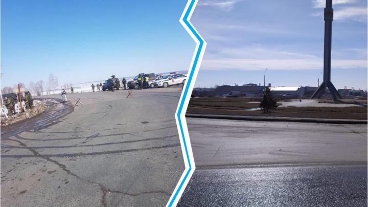 По WhatsApp пошла рассылка фото военных на Ордынском кольце. Мы проверили, что там (спойлер — ничего)