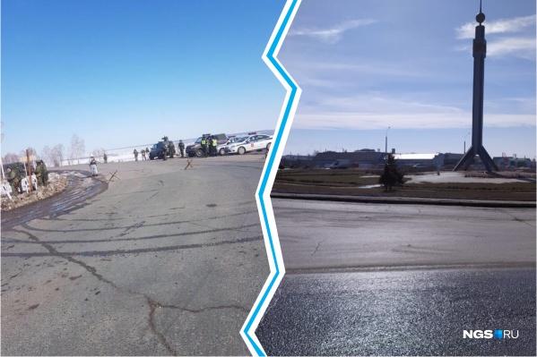 Слева фото, которое рассылается в мессенджере, справа — снимок нашего фотокорреспондента