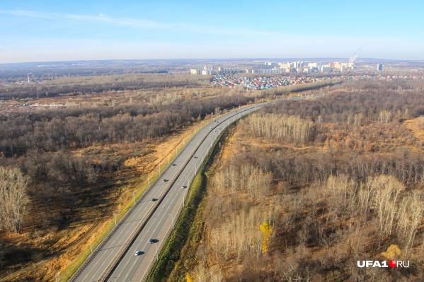 Трасса М-7 с высоты птичьего полета — ни кафе у дороги, ни забегаловки